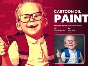 Cartoon Oil Painting Photoshop FX