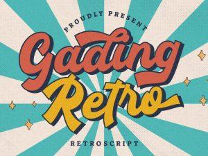 Gading Retro Retro Script