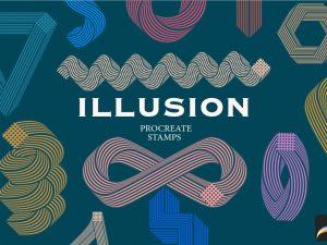 Illusion Procreate stamps