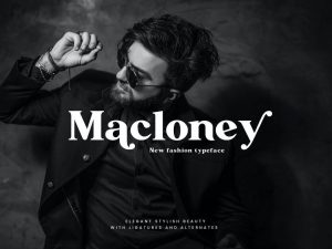 Macloney Bold Serif Font